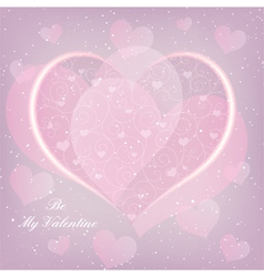 St Valentine Day Heart Shape Greeting Card vector image