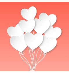 Valentines Day Heart Balloons on pink background vector image