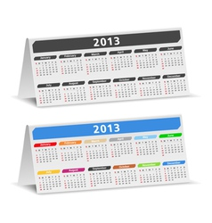 2013 desk calendars vector image vector image