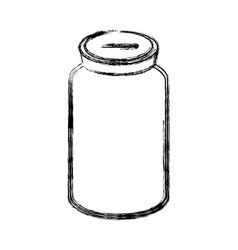 Figure glass bottle to save cash money vector