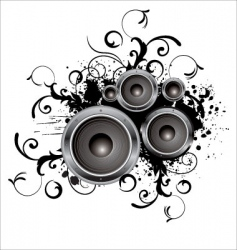 grunge party box in stereo vector image