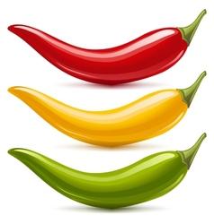 Hot chilli pepper set vector image