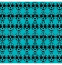 mexican Sugar Skull pattern vector image