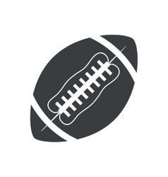 silhouette ball american football sport vector image