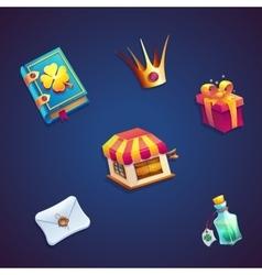 Sweet world mobile gui set elements video web vector