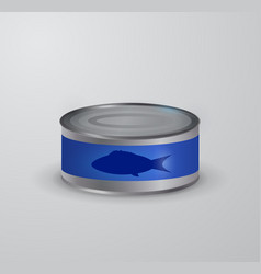 canned tuna fish icon vector image vector image