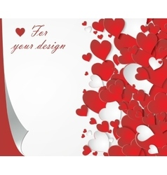 card with red hearts vector image vector image