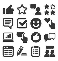 customer reviews and feedback icon set vector image