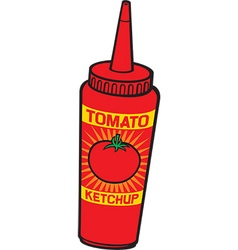 Ketchup bottle vector image vector image