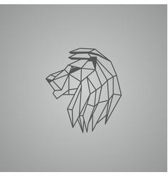 linear lion head logo vector image