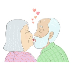 old kiss vector image vector image