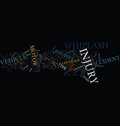 The motor vehicle accident whiplash type injury vector