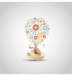tree of flower vector image