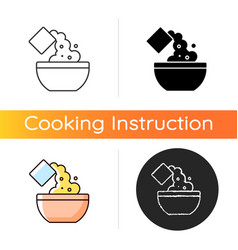 Add cooking ingredient icon vector