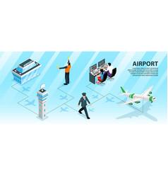 Airport infographics vector