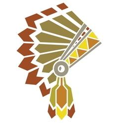 American indian avatar vector