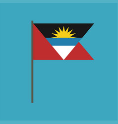 antigua and barbuda flag icon in flat design vector image