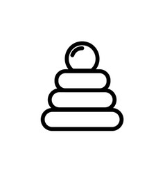 baby pyramid toy thin line icon outline symbol vector image