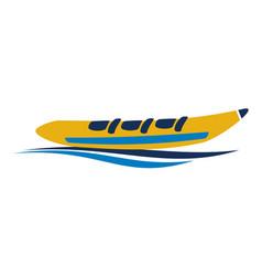 Banana boat logo design template vector