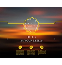 Blurred web design template vector image