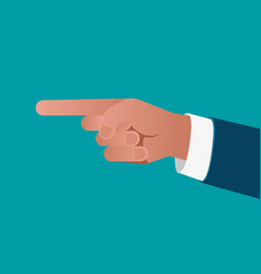 business finger pointing on blue background vector image