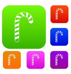 candy cane set collection vector image