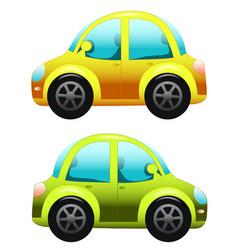 cars on white toy car cartoon car vector image