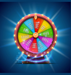 Colorful fortune wheel isolated on blue vector
