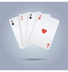 colorful playing cards vector image