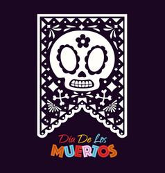 dia de los muertos holiday colorful style vector image