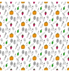 Doodles seamless pattern vector