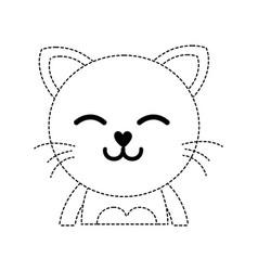 Dotted shape sleeping cat adorable feline animal vector