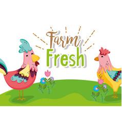 Farm fresh concept vector