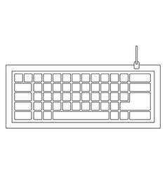 figure computer keyboard icon vector image