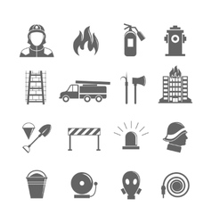 Firefighting icons set vector image