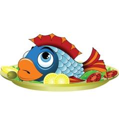 Fish Platter vector