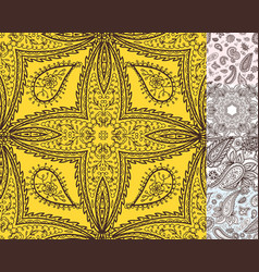 Floral mehendi pattern ornament vector