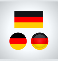 german trio flags vector image