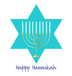 Gold hannukah menorah graphic vector