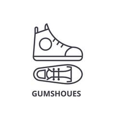 Gumshoes line icon outline sign linear symbol vector