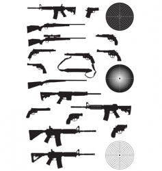 gun silhouette collection vector image