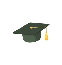 Hat student icon cartoon style vector