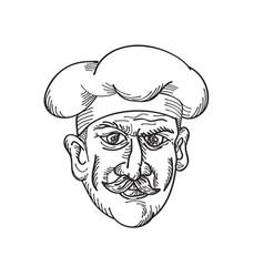 Head italian chef cook baker or food worker vector
