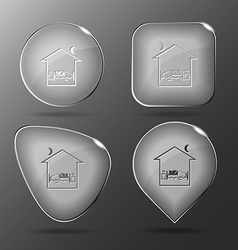 Home bedroom Glass buttons vector image