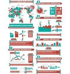 INFOGRAPHIC DEMOGRAPHICS WORLD PERCENTAGE vector