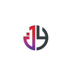 initial letter jy creative design logo vector image