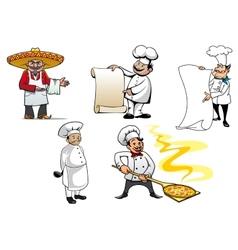 International chefs cartoon characters vector