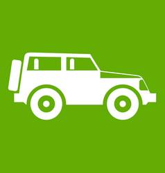 Jeep icon green vector