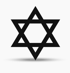 jewish religious symbol - star of david vector image