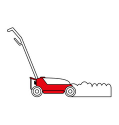 Lawn mower gardening tool icon image vector